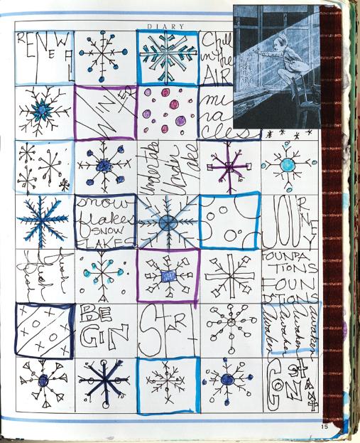 Winter themed grid